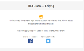 "Screenshot of a ""No results"" page on FlixBus"